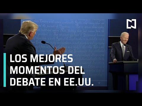 Los mejores momentos del Debate Presidencial de EEUU entre Biden y Trump - Las Noticias