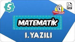 5. Sınıf Matematik 2. Dönem 1. Yazılı  2020