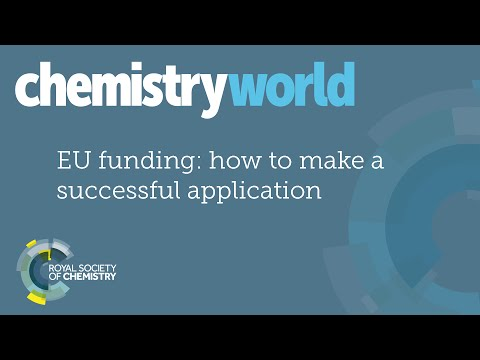 Chemistry World Webinars - EU funding; how to make a successful application