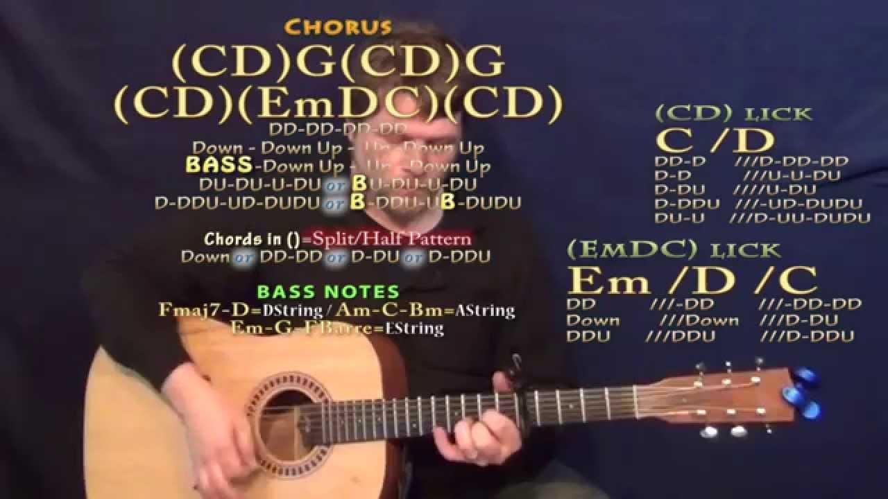 Like A Wrecking Ball Eric Church Guitar Lesson Chord Chart Capo