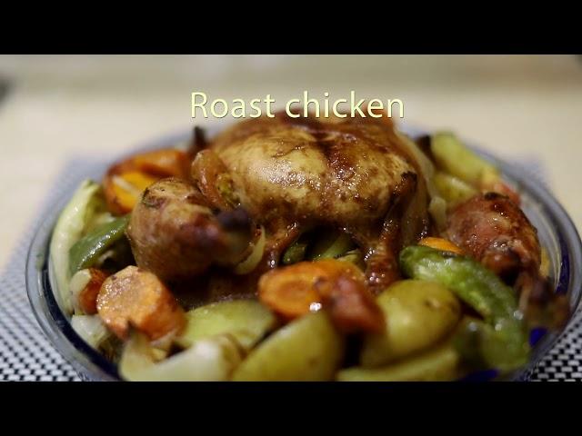 Poulet rôti/Roast chicken - Casserole du monde