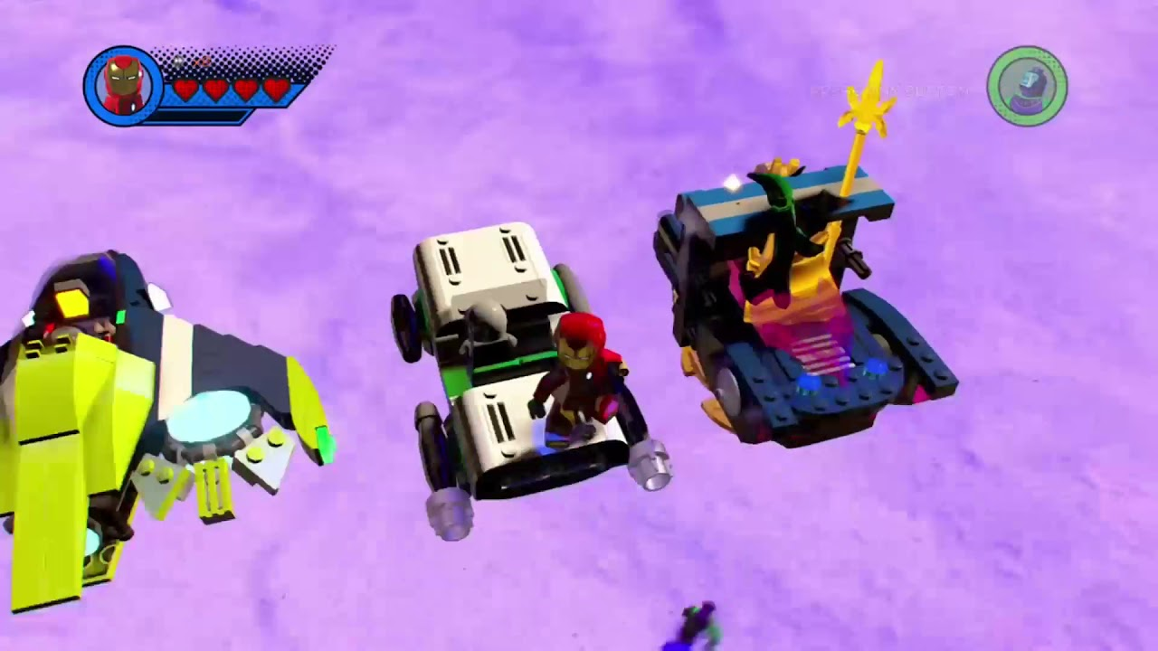 Lego Marvel superheroes 2 - secret cars under the map?