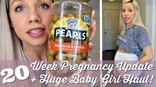 20 WEEK PREGNANCY UPDATE + HUGE BABY GIRL HAUL // BEAUTY AND THE BEASTONS 2018