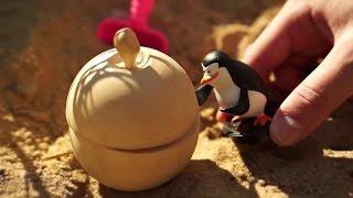 Видео для детей. Пингвин Шкипер и пират в поисках сокровищ
