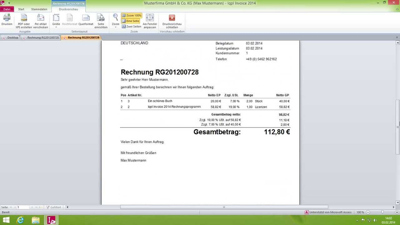 limtax invoice 2014 rechnung erstellen youtube. Black Bedroom Furniture Sets. Home Design Ideas