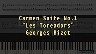 Video Carmen Suite No.1 #Les Toreadors, Georges Bizet (Piano Tutorial) Synthesia 琴譜 Sheet Music download MP3, 3GP, MP4, WEBM, AVI, FLV September 2018