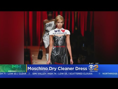 Dry Cleaning Bag Makes Its Debut On Moschino Runway