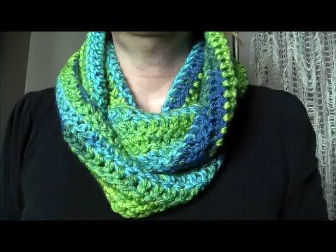 Crochet Easy Infinity Scarf Youtube