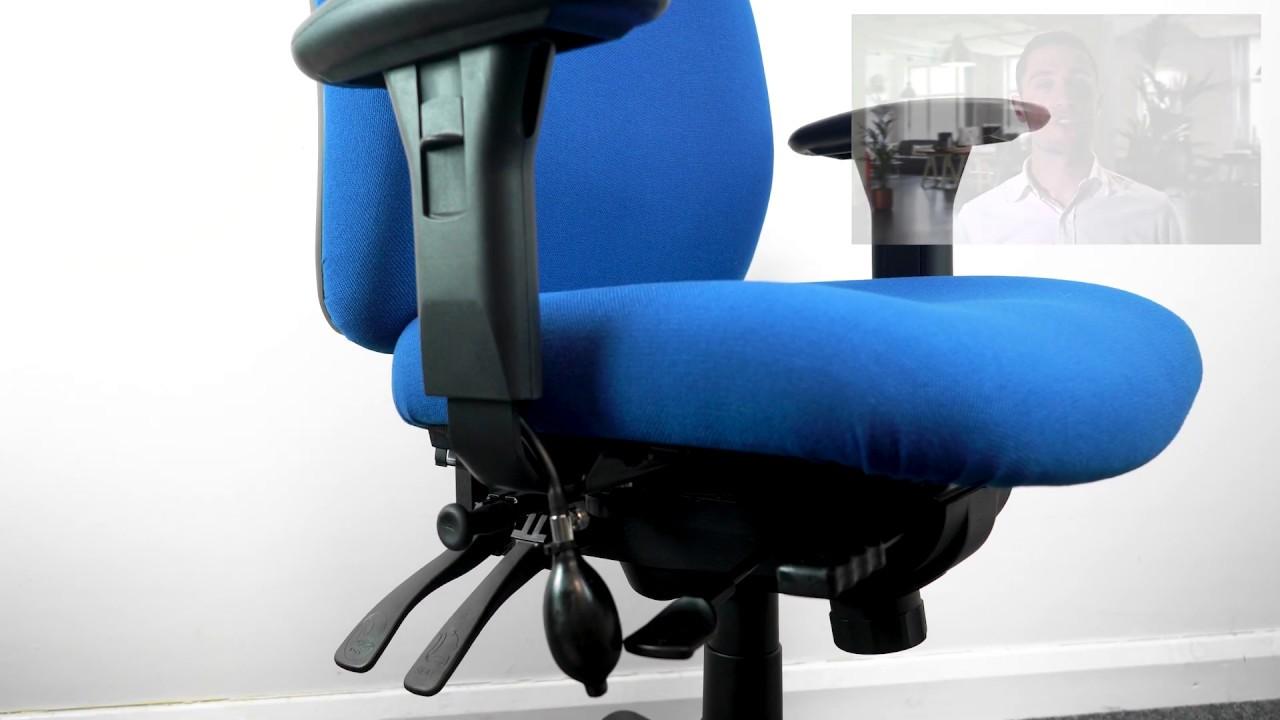 Bad Back Chairs - Orthopaedic Office Chairs - Rainbow Zebra