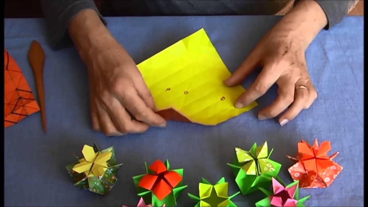 Origami flower box virg doboz youtube mightylinksfo