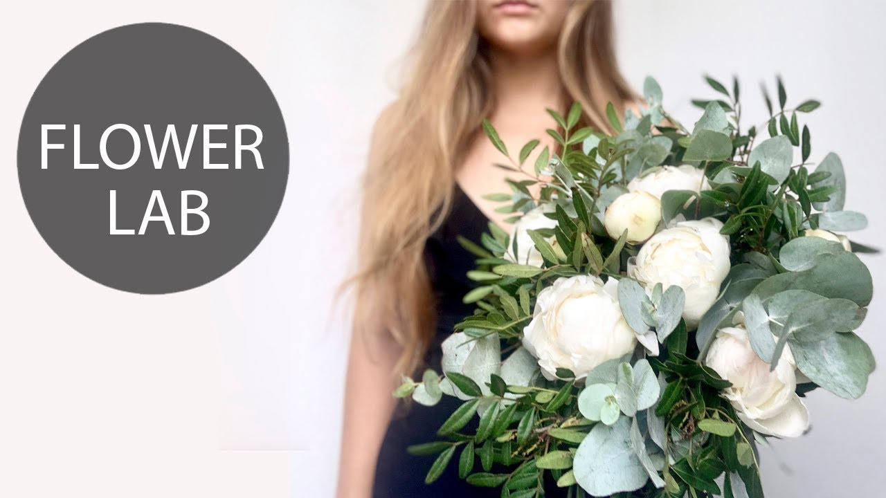 Diy Greenery Bouquet Easy Way How To Make A Bouquet Without Wrapping Youtube