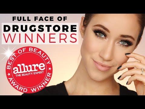 FULL FACE OF DRUGSTORE Allure Best of Beauty Award WINNERS 2017   ALLIE GLINES