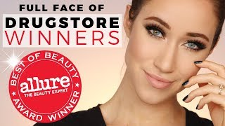 FULL FACE OF DRUGSTORE Allure Best of Beauty Award WINNERS 2017 | ALLIE GLINES