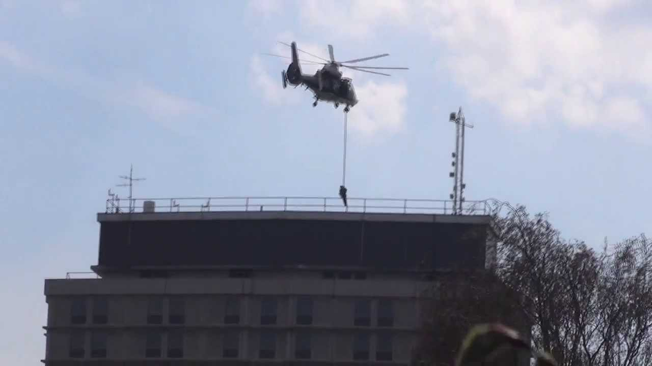 Helicopter Training Exercise At Metropolitan Police Peel