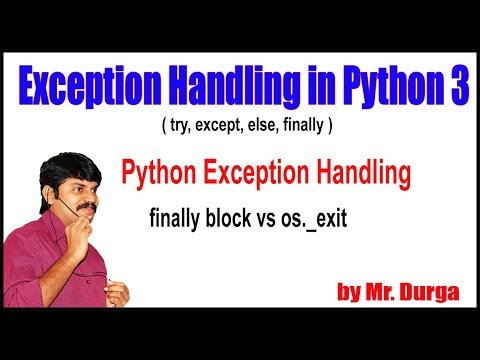 Python Tutorials || Python Exception Handling ||  finally block vs os  exit (0) || by Durga thumbnail