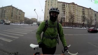 Первый зимний Велопарад (Москва - 09,01,2016) - 4k, UHD
