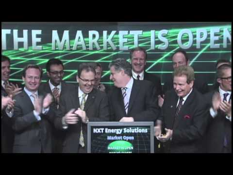 NXT Energy Solutions Inc. (SFD:TSX-V) opens Toronto Stock Exchange, September 14, 2012.
