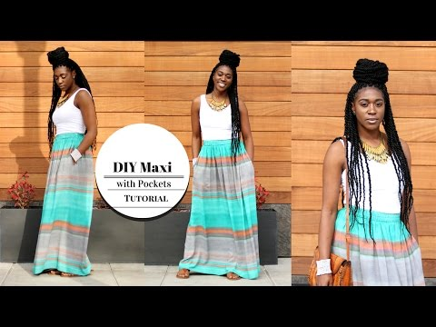 DIY Maxi Skirt with Pockets Tutorial