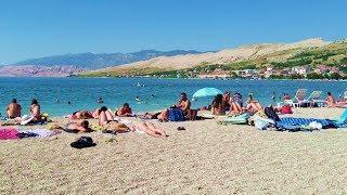 Plaža Prosika Pag - Gradska plaža - Beach Prosika Pag, Croatia