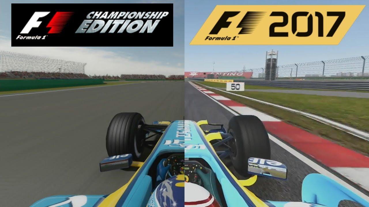 F1 2017 Vs F1 Championship Edition - Renault R26 Hotlap Comparison