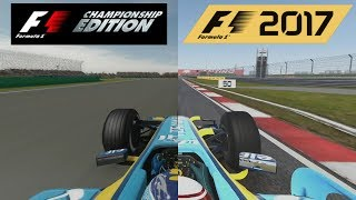 F1 2017 Vs F1 Championship Edition - Renault R26 Hotlap Comparison