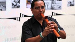 Andrew Thomas (Diné) Plays the Flute
