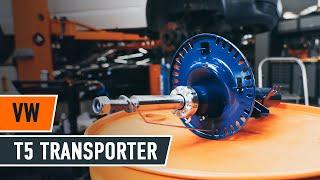 Ako vymeniť vzperu predné tlmiča na VW T5 TRANSPORTER Van [NÁVOD AUTODOC]