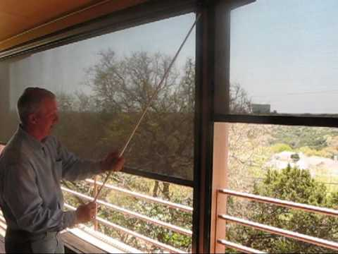 Retractable Patio Screen Houston Tx Porch Sun Shade Youtube