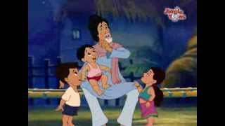 must watch amitabh bachchan hindi song aao bachho in animation by jingle toons