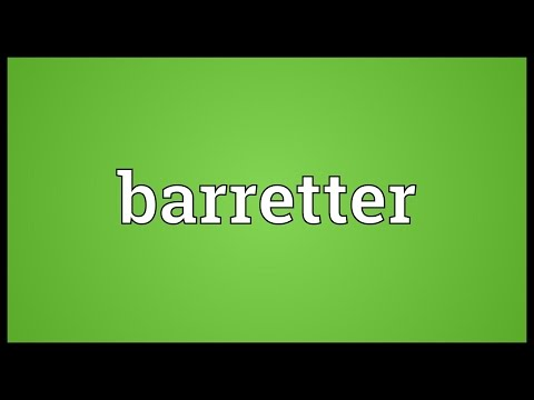 Header of barretter