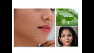 ALOEVERA  GEL FACIAL for FLAWLESS SKIN & TO LOOK YOUNG FOREVER @home Tamil Youtuber.