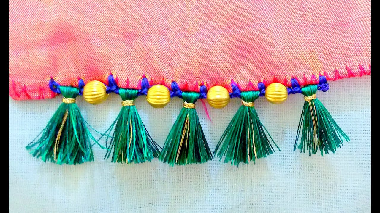 How to do Saree Tassels Krosha / Crochet Tutorial 3 - YouTube