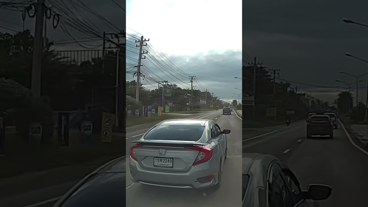 ขับขี่ปลอดภัยนะครับผม  แอดมีตกใจ ขึ้นมาแบบนี้  😂🛣แยกถนนหัก ทางหลวงหมายเลข24 #ถนนไทยแลนด์