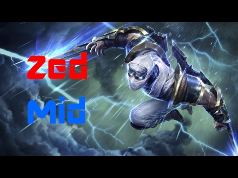 League of Legends - Zed Mid - Full Gameplay - No Commentary