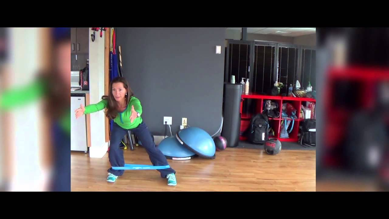 Resistance Band Exercise: Lateral Lunge Resistance Band Exercise: Lateral Lunge new images