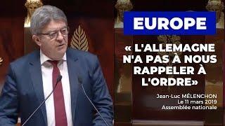 EUROPE : L'ALLEMAGNE N'A PAS À NOUS RAPPELER À L'ORDRE