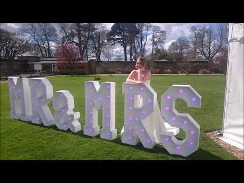 Light Up Letters MR&MRS LED Wedding Colour Changing!