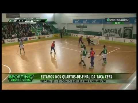 Hoquei Patins :: Sporting - 5 x Basileia - 3 de 2014/2015 Taça Cers 1/8 Final - 2ª mão