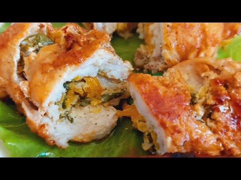 Рулет из курицы / Chicken roll recipe/ Лагман по узбекски #foodie #shorts  #rizanovauz #рецепты