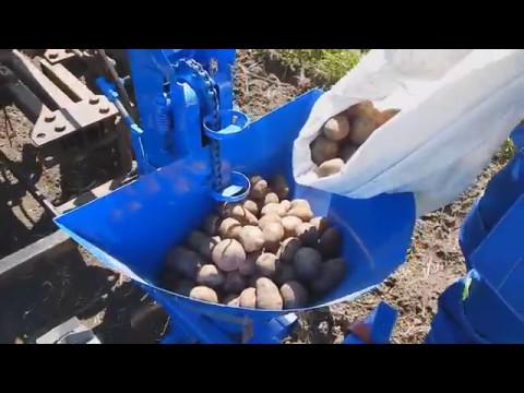 Картофелесажалка в работе с адаптером КАК картошку ПОСАДИЛИ