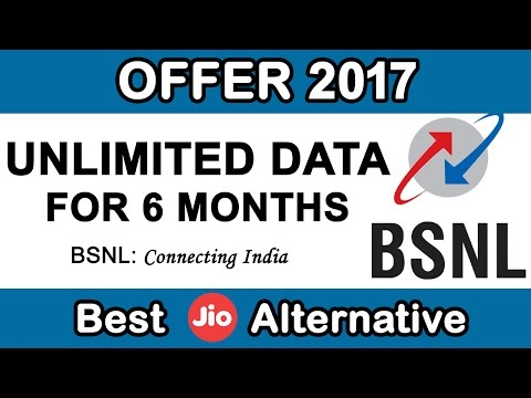 BSNL Offering UNLIMITED Data For 6 Months | JIO Alternative 2017