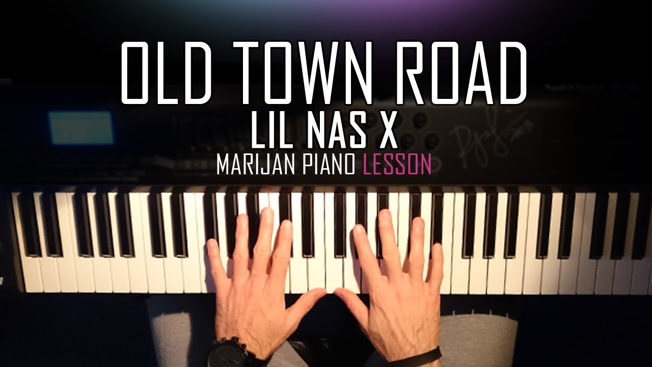 How To Play Lil Nas X Old Town Road Piano Tutorial Lesson Sheets