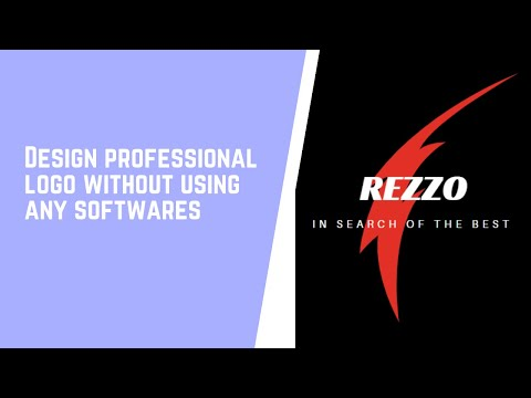 Logo Design Tutorial | Design logo without using any software thumbnail