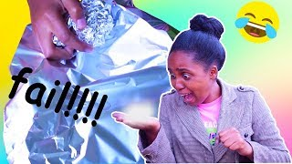 MIRROR-POLISHED JAPANESE FOIL BALL CHALLENGE **EPIC FAIL**  i tried following laurdiy's video