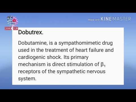 Dobutrex Dobutamine Drug Study YouTube
