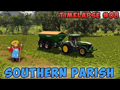 FS 17 | Southern Parish with Seasons | Timelapse #08 | Fertilizing and sowing grass fields