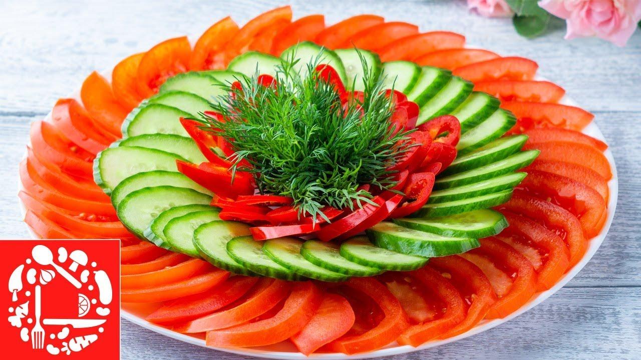 Красивая овощная нарезка на Праздничный стол! 5 овощных тарелок на Пасхальный стол!