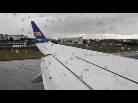 Icelandair Boeing 737 MAX 8 takeoff from Reykjavik