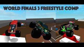 Roblox Monster Jam World Finals 3 Freestyle Competition! (3 Trucks)
