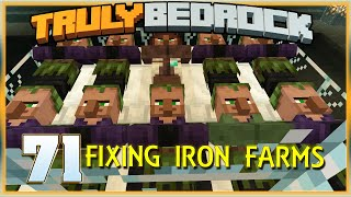 Truly Bedrock E71 Fixing Iron Farms & Sorter | Minecraft Bedrock, MCPE, MCBE